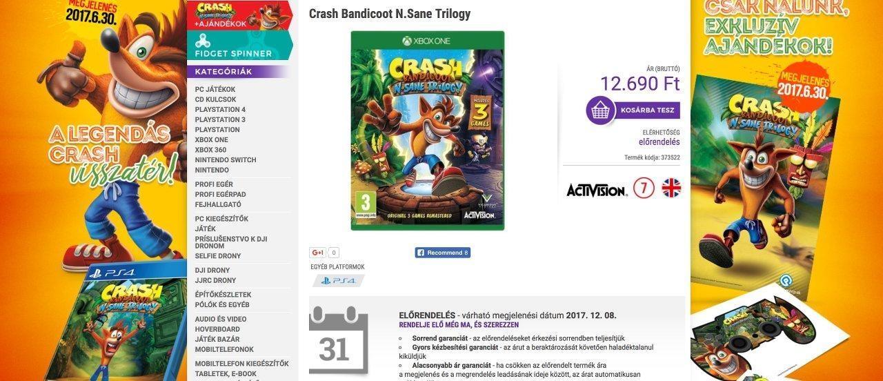 Crash Xbox One