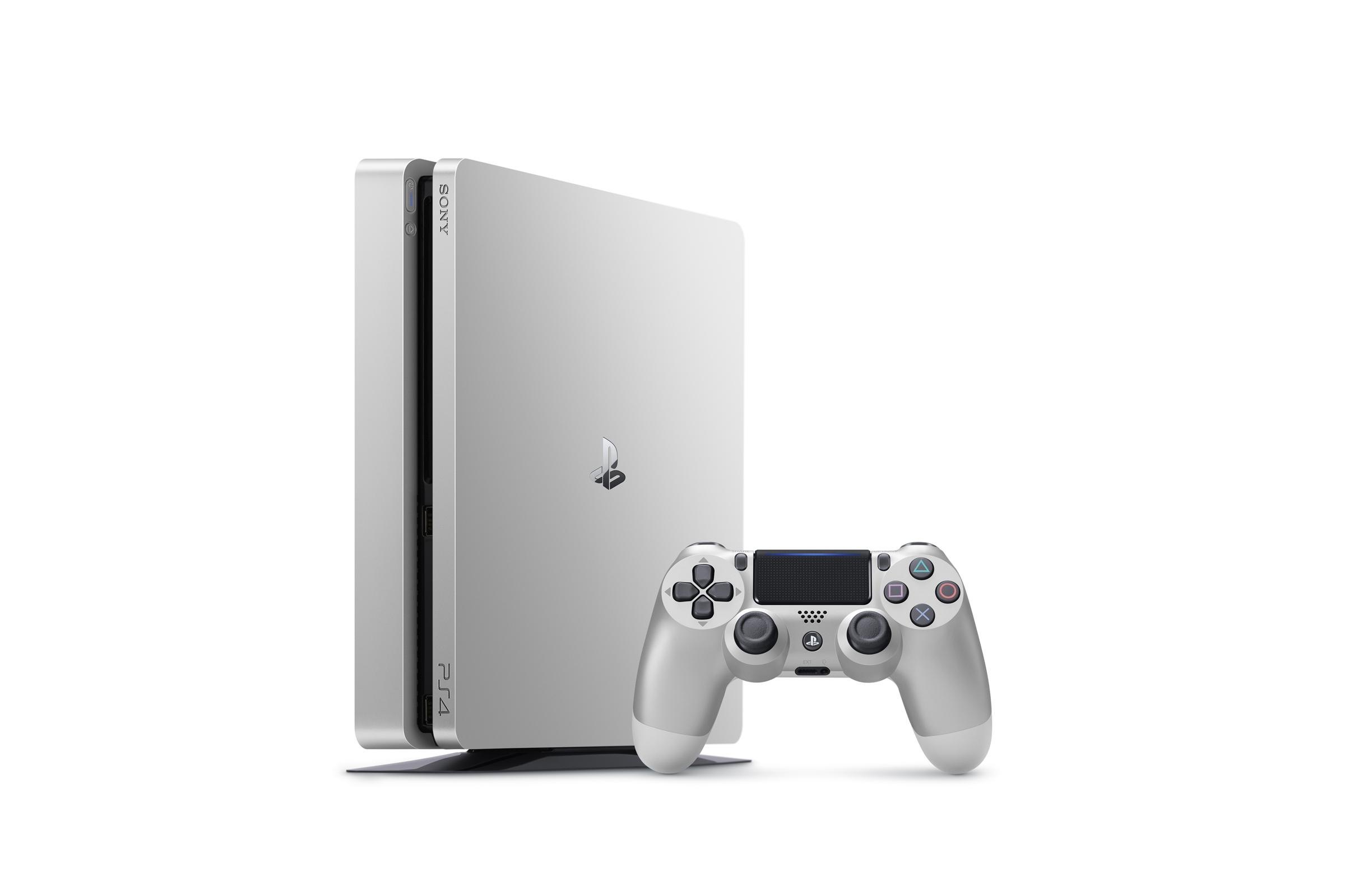 PlayStation 4 Zilver