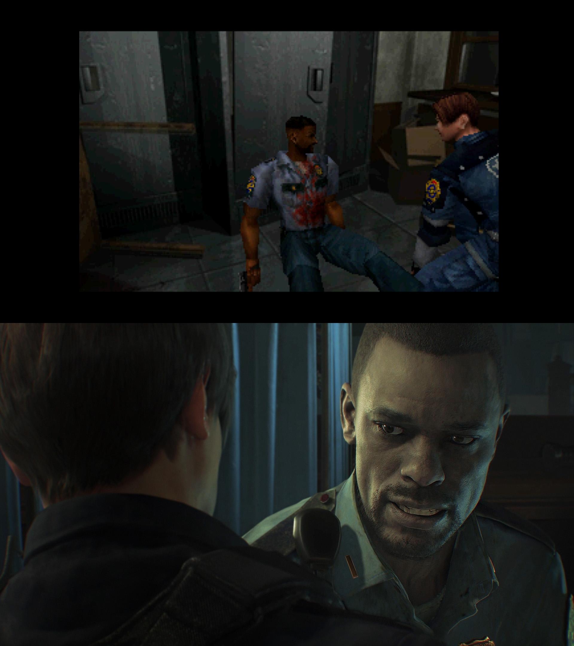 Resident Evil 2 Remake verschil 01