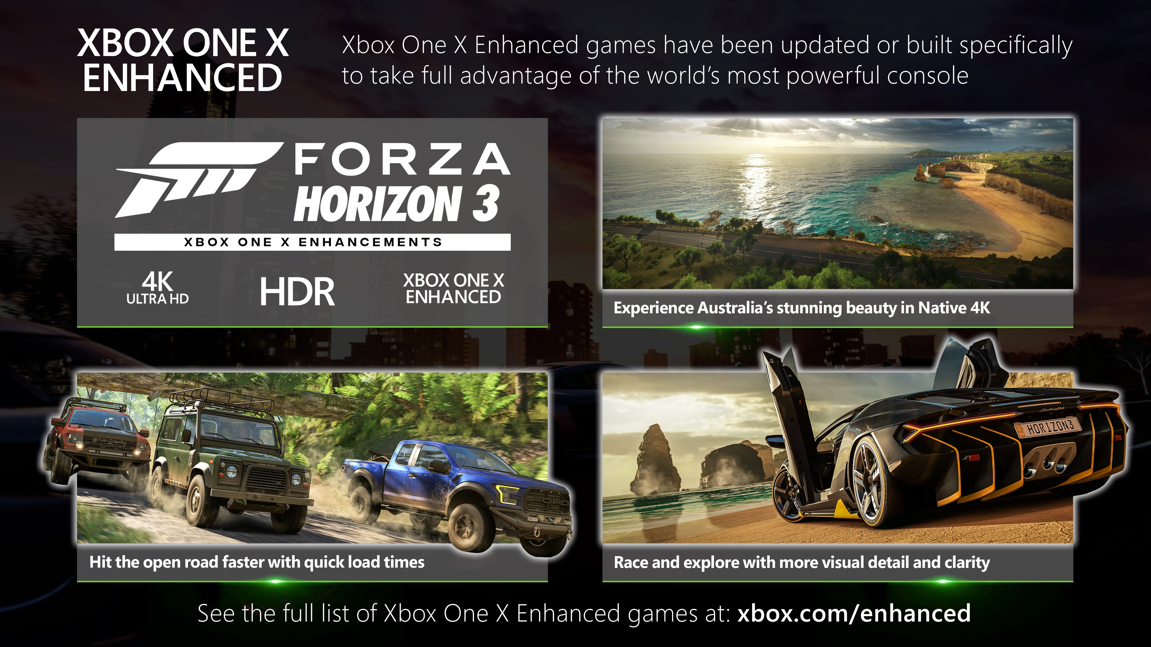Forza Horizon 3 Xbox One X