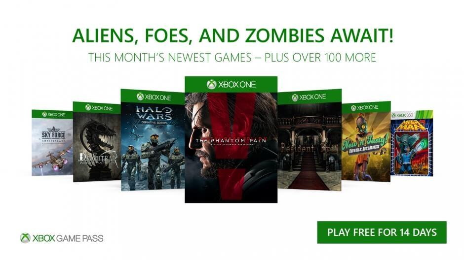 Xbox GamePass november 2017