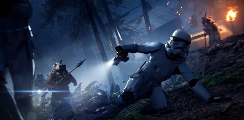 Vecht met Ewoks in Star Wars Battlefront II: Night on Endor